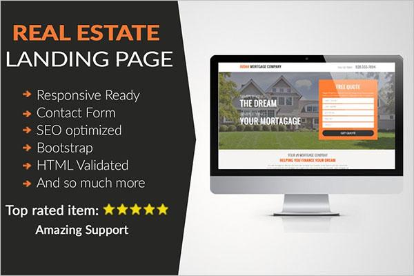 Real Estate Landing Page HTML