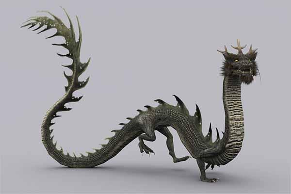 Realistic 3D Dragon Design