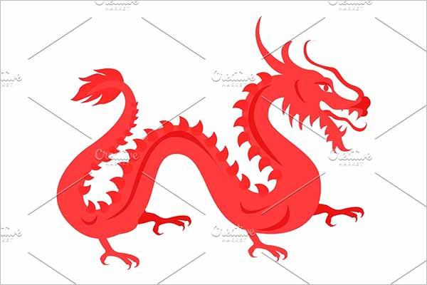 Red Illusion Dragon Design