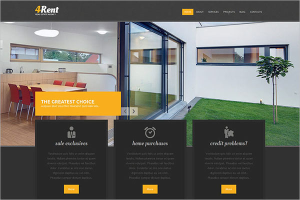 Responsive Real Estate Agency Blog Template