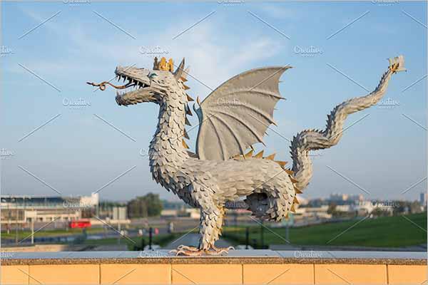 Retro Dragon 3D Design