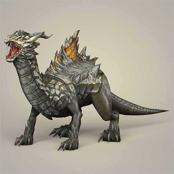 Rigged Dragon 3D Design