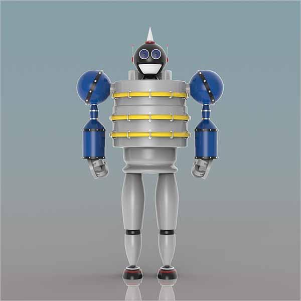 Robot Shaped 3D Design
