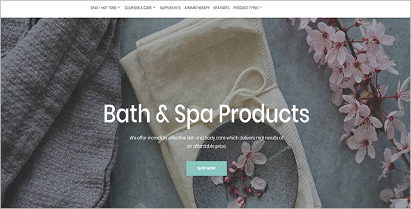 SPA Store Magento Website Theme