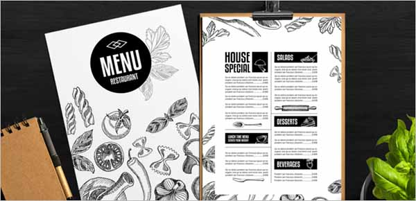 Sample Free PDF Menu Template Download