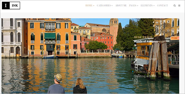 Sample Minimalist Blog WordPress Woo commerce Theme