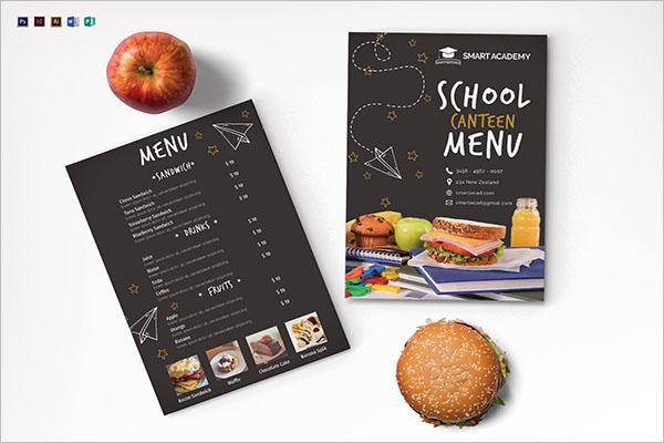 School Canteen Menu Templates