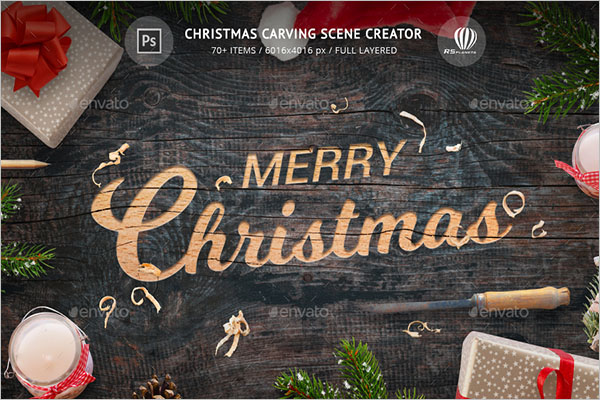 Simple Christmas Carving Scene