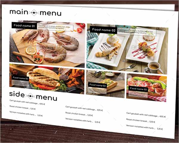 Simple Food Menu Template