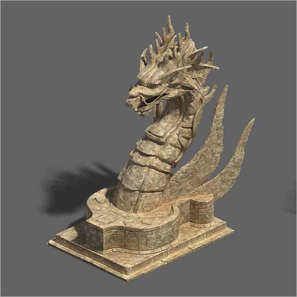 Stone Dragon 3D Design
