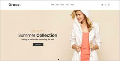 Summer Fashion Store WordPress Theme