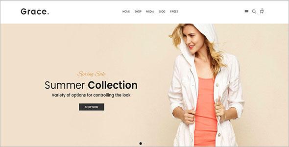 Summer Fashion Store WordPress Theme
