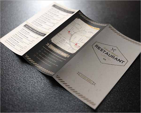 Tri-Fold Menu Card Template