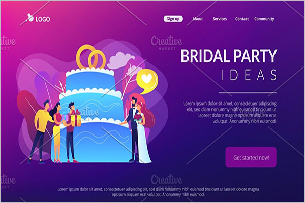 Wedding Party Landing Page