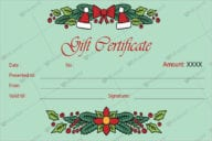 Winter Christmas Certificate Templates