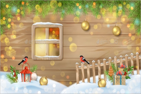 Winter Christmas Scene Wallpaper