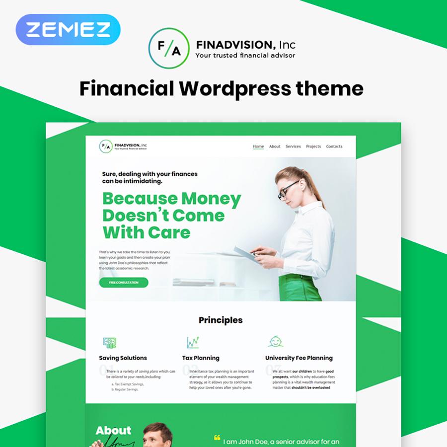 Financial Advisor Responsive WordPress Theme
