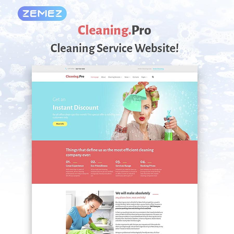 Cleaning Service Company WordPress Theme