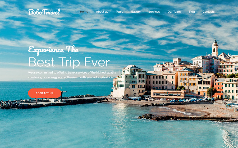 Travel Services Moto CMS 3 Template