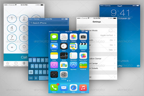 5S App Screen Mockup