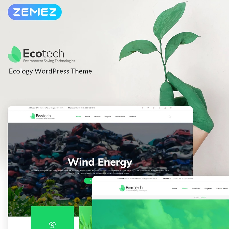 Environment and Eco Technology WordPress Theme
