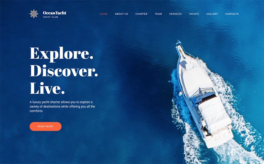OceanYacht - Yacht Club Premium Moto CMS 3 Template