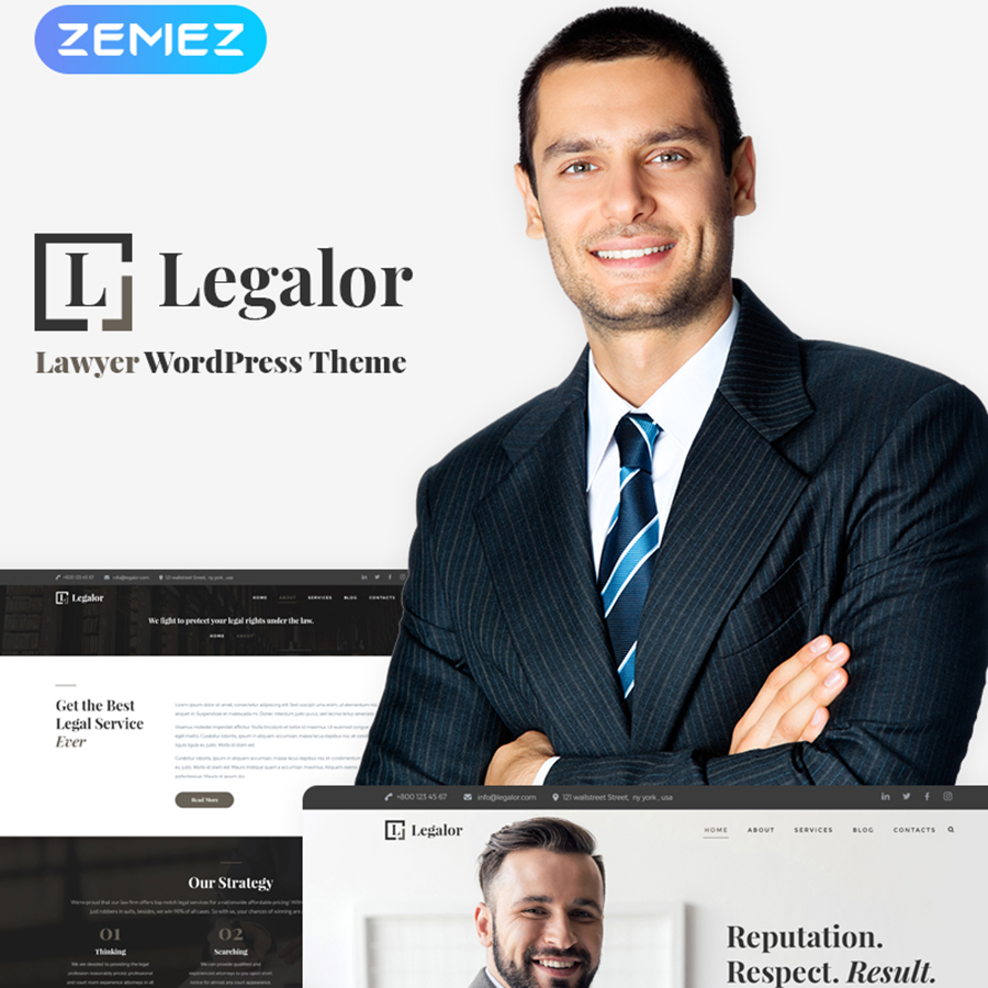 Legalor - Lawyer Elementor WordPress Theme