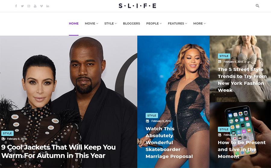 Slife - Lifestyle Elementor WordPress Theme