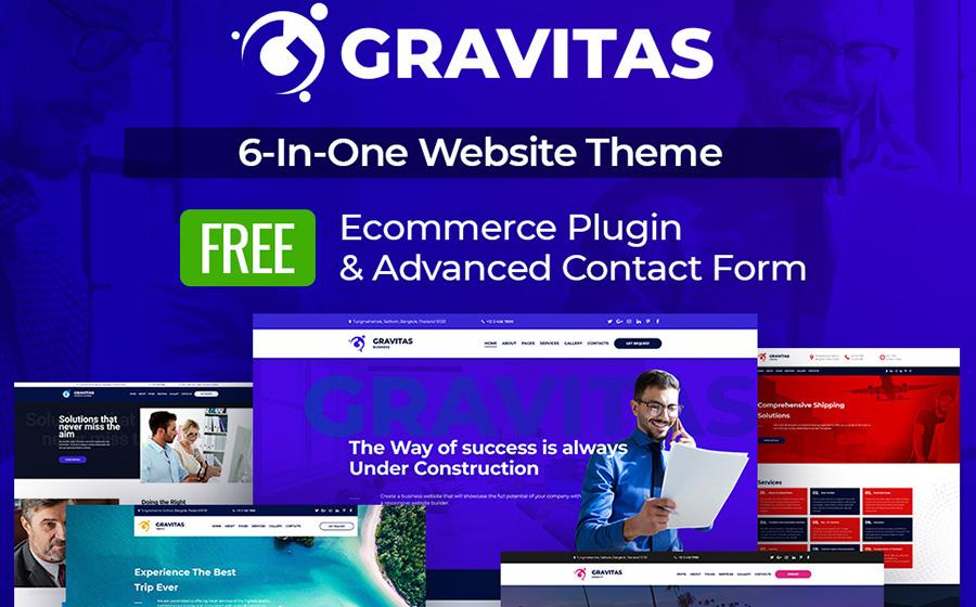 Gravitas Multipurpose Business Moto CMS 3 Template