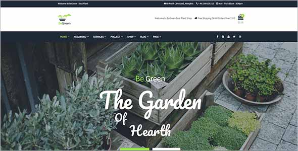Abstract Garden WordPress Website Theme1