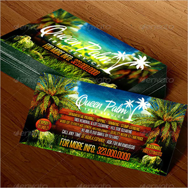 Abstract Gardening business card