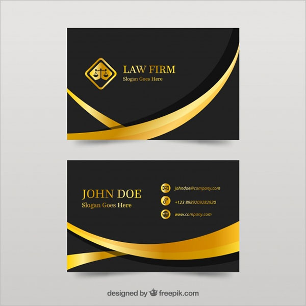 Advocate Business Card Example