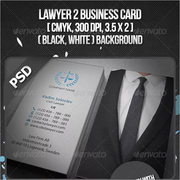 Advocate PSD Business Card
