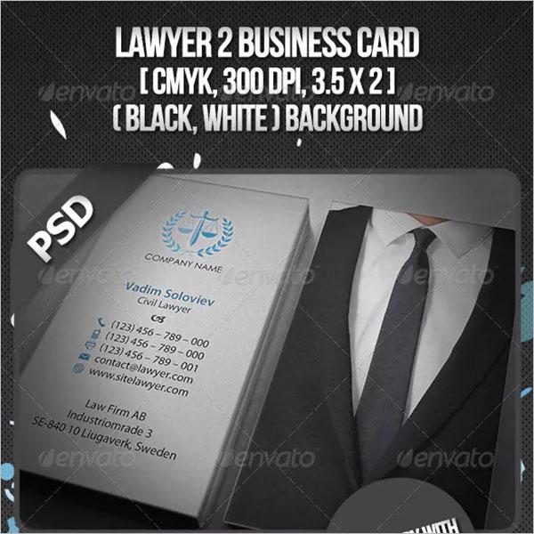 Advocate PSD Business Card
