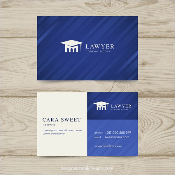 Advocate Visiting Card Design