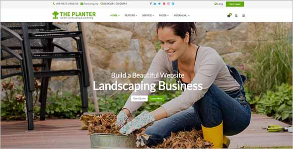 Agriculture Garden Website Theme1