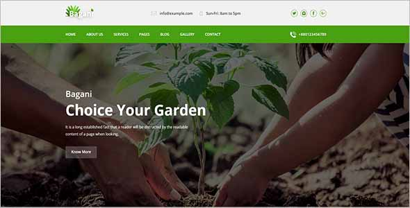 Agriculture Website Template1