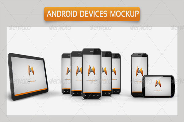 Android Devises Mockup Vector Design
