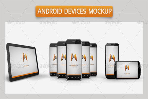 Android Devises Mockup Vector Design