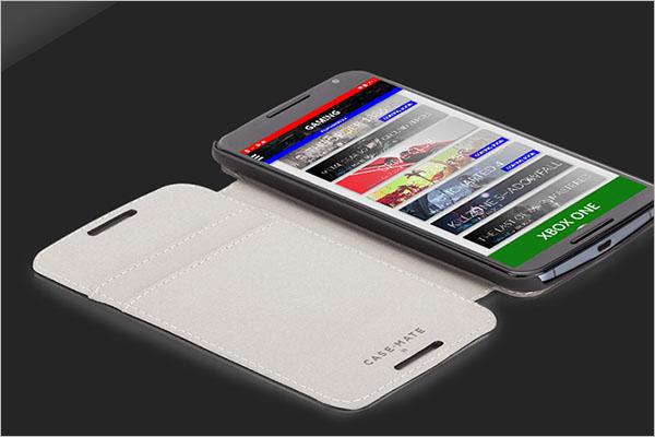 Android Gaming Application Mockup