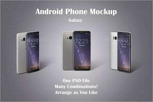 Android Phone Mockup Design Idea