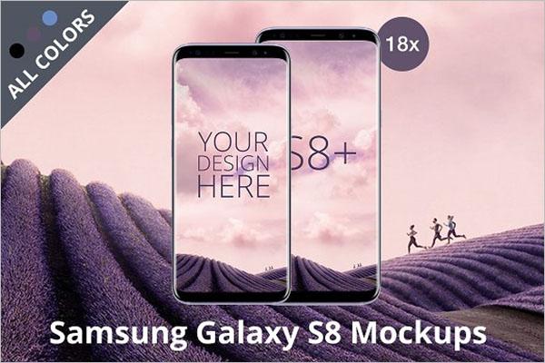 Android Samsung Galaxy Mockup Design
