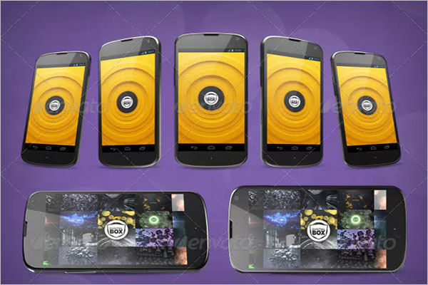 Android Smartphone Design Mockup