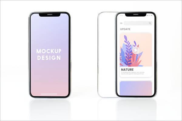 App Screen Mockup Design Example
