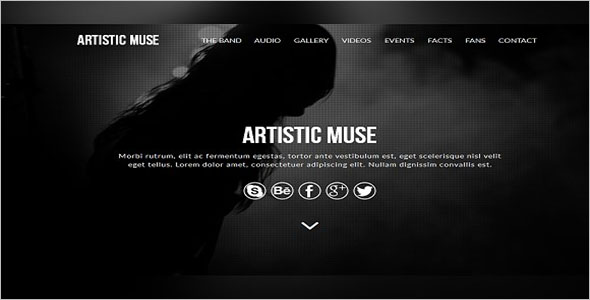 Artistic Muse Website Template