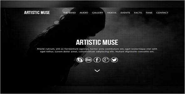 Artistic Muse Website Template
