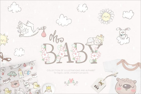 Baby Collection Postcard Design