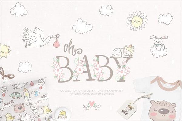 Baby Collection Postcard Design