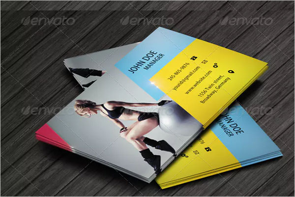 Beautiful Fitness Business Card Design