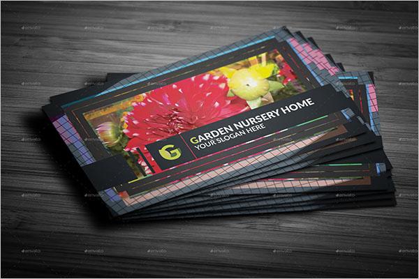 Beautiful Gardening Business Card